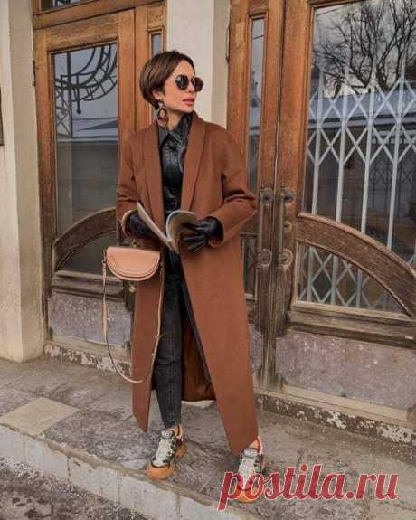 Стильные сочетания с коричневым пальто