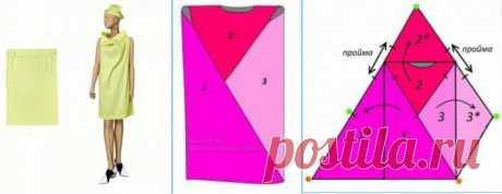 Два шва,три дырки = платье Модная одежда и дизайн интерьера своими руками