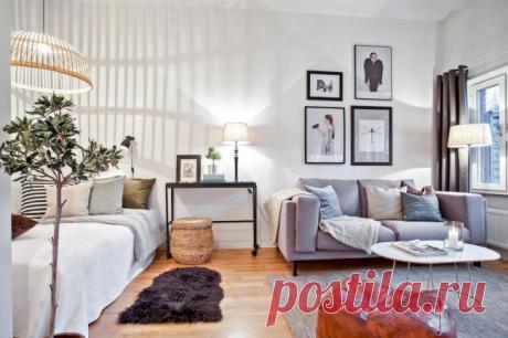 Дизайн гостиной-спальни 17 кв.м [Подборка топовых интерьеров]