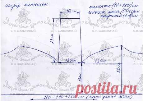 Шарф-капюшон выкройки – 2 фотографии   ВКонтакте