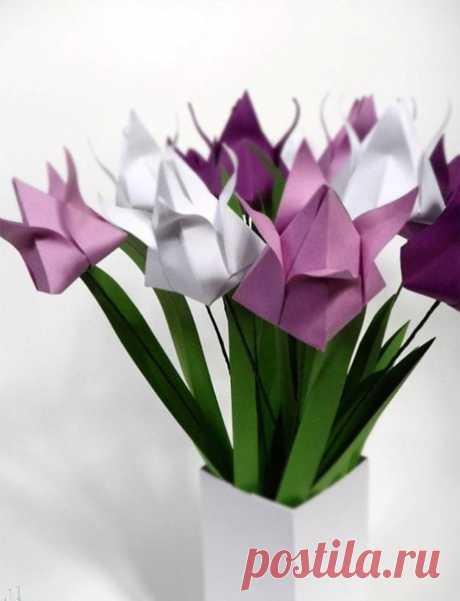 Цветы оригами (схема)