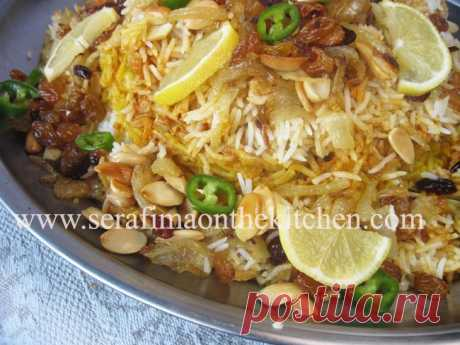 Бирияни с курицей. Арабская кухня