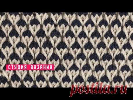🆕 Узор ленивым жаккардом из вытянутых петель / Knit pattern / Knitting DIY
