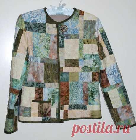 Симпатичная одёжка из кусочков ткани. Летняя куртка в технике пэчворк и квилтинг