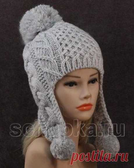 шапка ушанка спицами женская - Поиск в Google