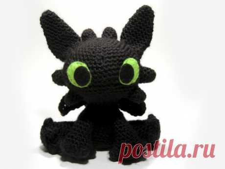 Dragon Bezzubik of an amiguruma. Scheme of knitting. | Amigurumi — schemes, amigurum a hook, knitting and toys of an amiguruma. Amigurumi of all countries!