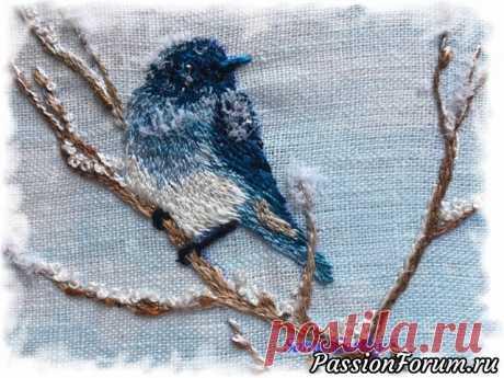 День возвращения синей птицы счастья   Вышивка. Работы пользователей