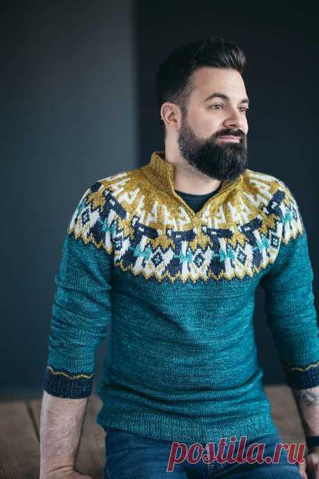 Мужской свитер с оленями Frankly my Deer - Вяжи.ру