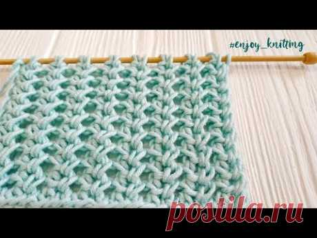 ШИКАРНЫЙ Узор спицами Ажурный Колосок | How to knit Lace Spine stitch