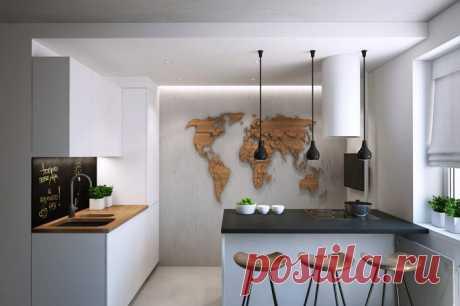 Современная кухня с барной стойкой — Pro ремонт