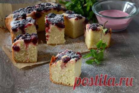 Вишневый пирог Наслаждение рецепт с фото пошагово и видео - 1000.menu