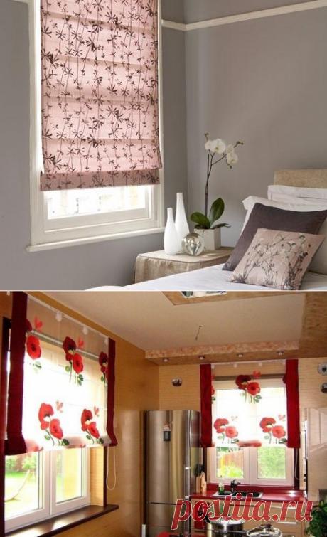 Римская штора на окно своими руками