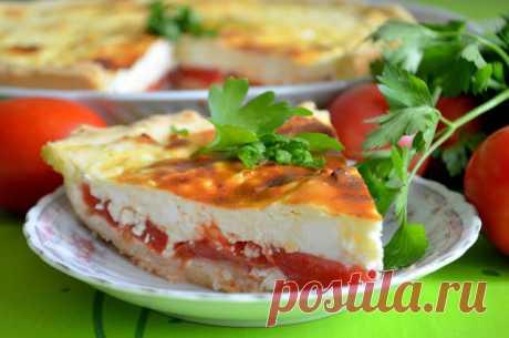 MY FOOD или проверено Лизой: Летний пирог с томатами и сыром фета