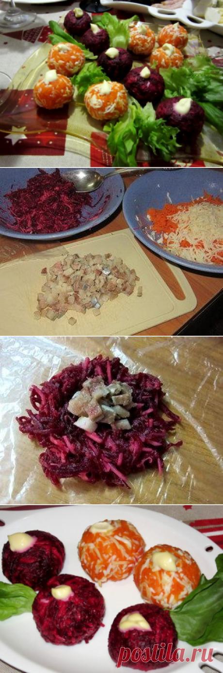 Овощные шарики с сельдью