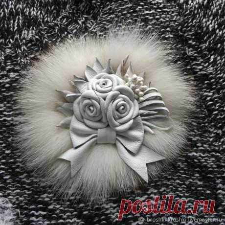 Master class: a winter brooch from skin and fur