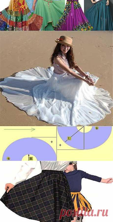 Юбка солнце | Выкройка. Как сшить юбку солнце своими руками