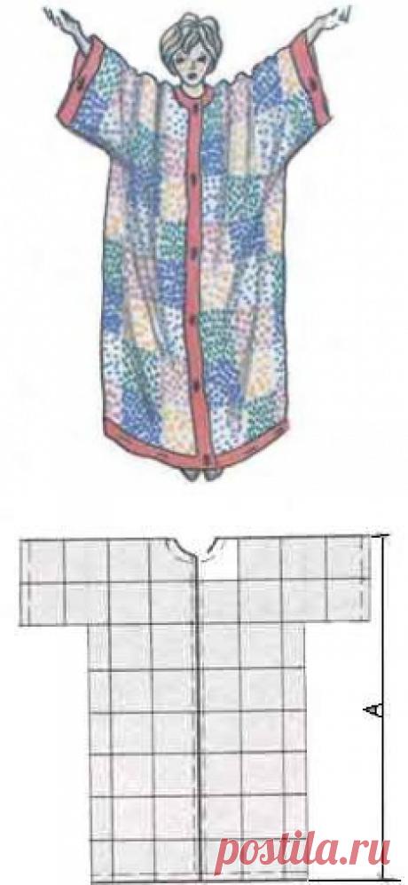 Как самой сшить женский домашний халат без выкройки? | Катюшенька Ру — мир шитья