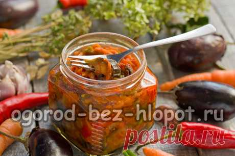 Баклажаны с перцем на зиму — язык откусишь Из баклажанов с перцем можно заготовить на зиму изумительный овощной салат. Он получается настолько вкусным, что просто язык откусишь. Это старый бабушкин рецепт, не теряющий своей актуальности и сегодня. Все дело в сочетании овощей – основных ингредиентов (баклажаны, перец и помидоры) нужно взять примерно поровну, добавить немного морковки, чеснок, приправить уксусом и подсолнечным маслом, потушить до готовности и разложить в чис...