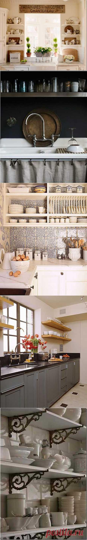 Идеи открытых стеллажей на кухне / Я - суперпупер