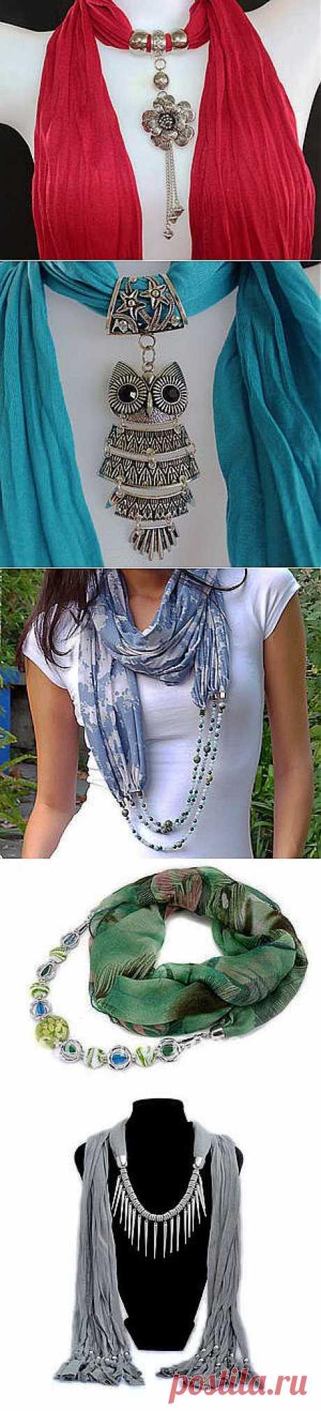 Платки-шарфики, крутим, вертим, повязываем...