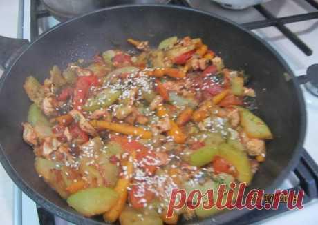 (5) Рагу из молодого кабачка с кунжутом - пошаговый рецепт с фото. Автор рецепта Светлана Бунтина . - Cookpad