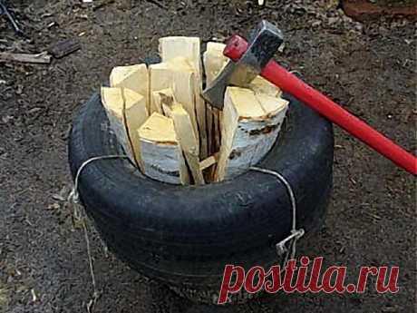 Как наколоть машину дров за 4 часа / 7dach.ru