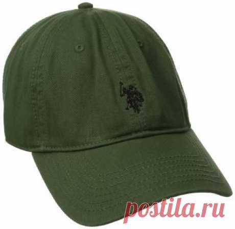 U.S. Polo Assn. Men's Small Horse Washed Twill Adjustable Cap, Olive, One Size at Amazon Men's Clothing store: