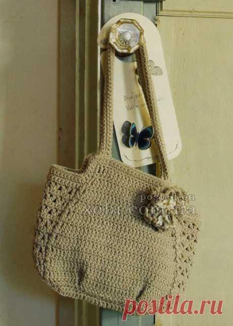 простая и красивая сумка крючком