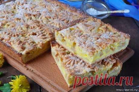 Яблочный пирог из песочного теста. Нежнейший пирог с отменным вкусом! | Четыре вкуса