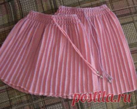Вяжем юбку на машине (поперечное вязание)