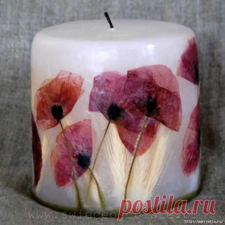 Цветочные свечи ручной работы!