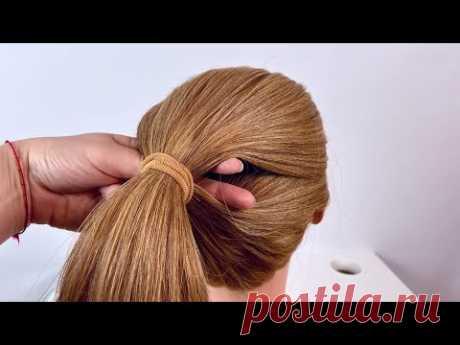 Прическа на длинные волосы.Летняя прическа