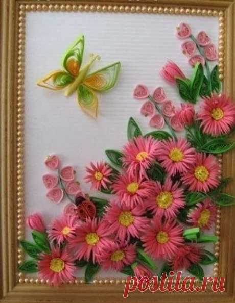 Chrysanthemums from paper