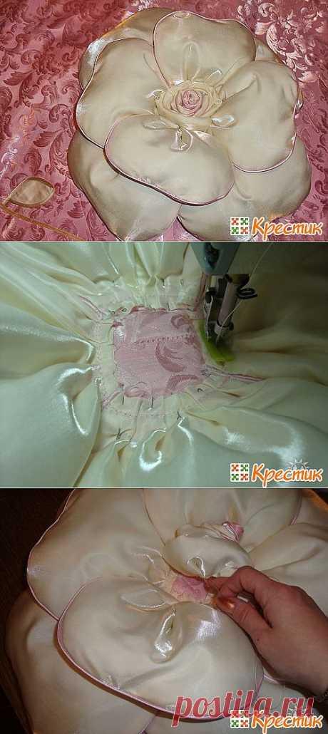 Восхитительная подушка-роза: мастер-класс для ценителей прекрасного