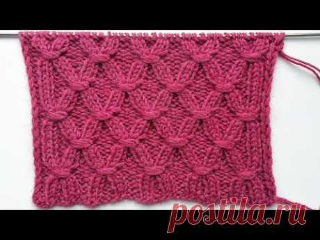 Интересный узор на основе резинки 2 на 2 с обвитыми петлями для вязания шапок, свитеров спицами