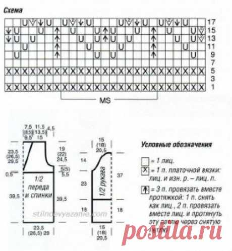 Женский пуловер салатового цвета спицами / Стильное вязание