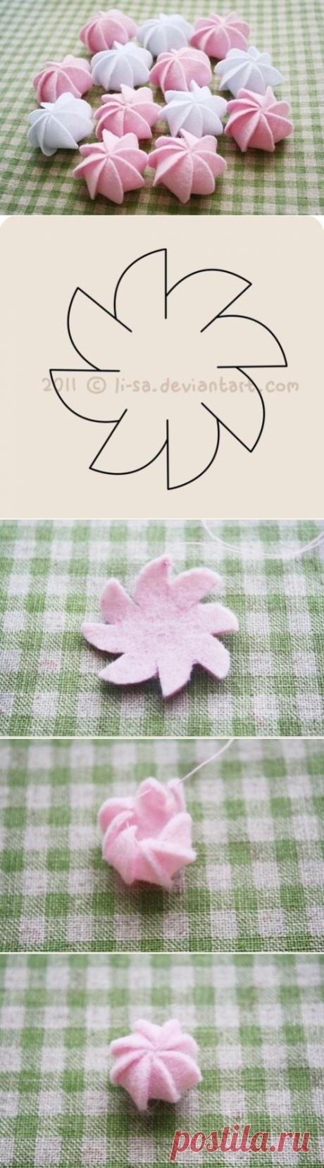 Зефирки из войлока — Сделай сам, идеи для творчества - DIY Ideas