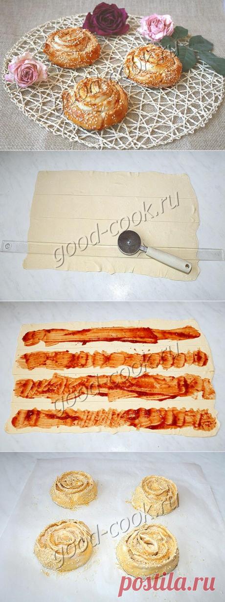 слоеные завитки с сыром