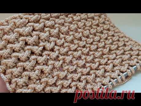 Вяжем креативный узор из пряжи Macrame 🍂 knitting pattern.