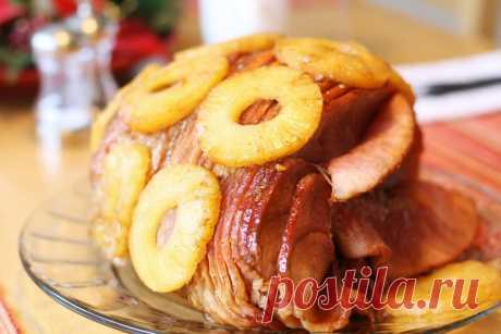 Буженина, запеченная с ананасами в глазури рецепт с фото пошагово