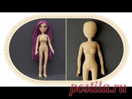La muñeca por el gancho de Violetta, la parte 5 (Cabeza). Crochet doll Violetta, part 5 (Head)
