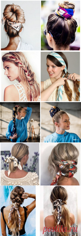 100 причёсок с платками и лентами (трафик) / Тенденции / ВТОРАЯ УЛИЦА