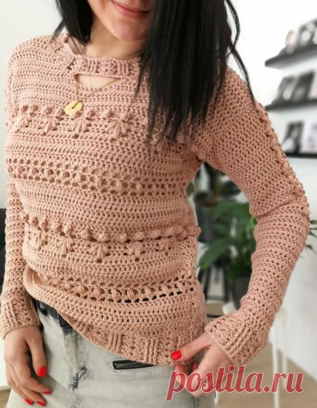 Вязаный пуловер Overly | ДОМОСЕДКА