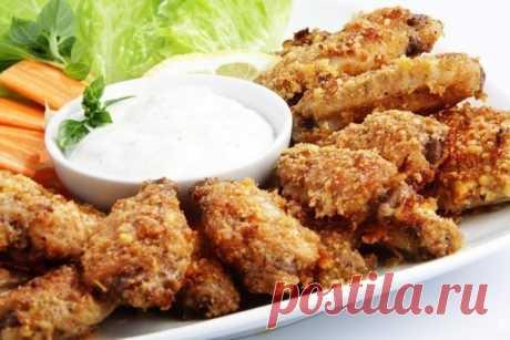 Как приготовить куриные крылышки с сыром пармезан в духовке - рецепт, ингредиенты и фотографии