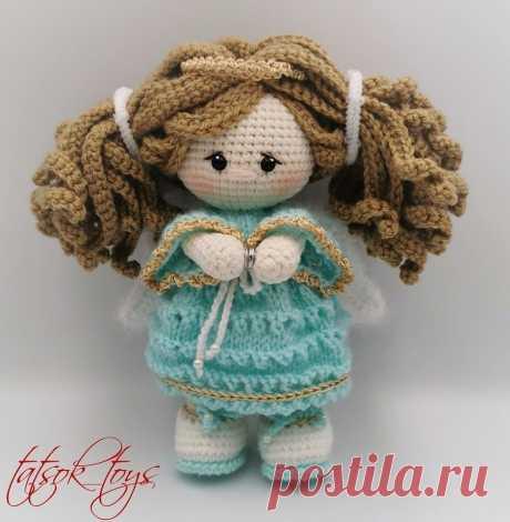 Вязаная кукла ангел-хранитель крючком | Амигуруми