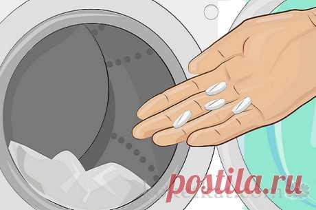 La aspirina para el lavado de la ropa blanca blanca