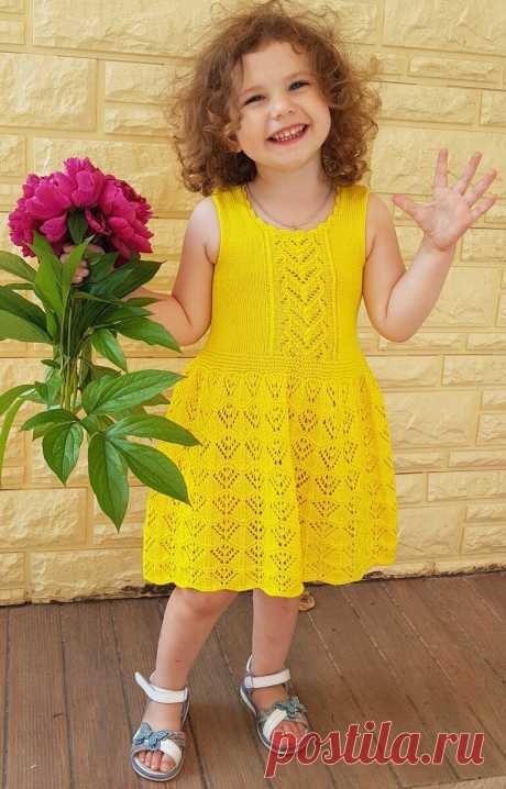 Ажурное платье для маленькой принцессы, спицами. | Душа Мастерицы | Яндекс Дзен