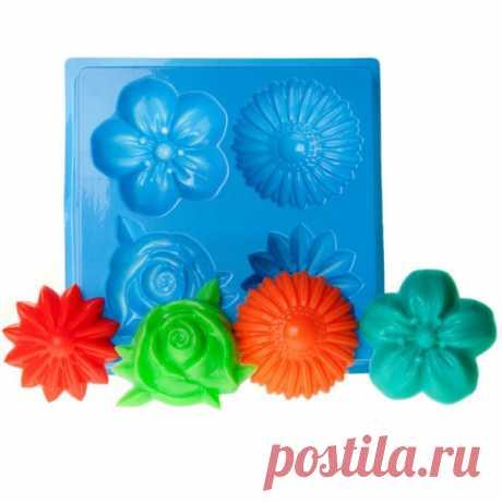 """Профессиональная пластиковая форма МК """"Цветы"""""""