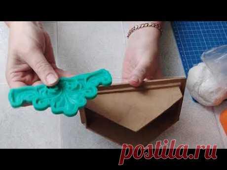 Как сделать антикварную салфетницу под дерево своими руками. DIY/рукоделие