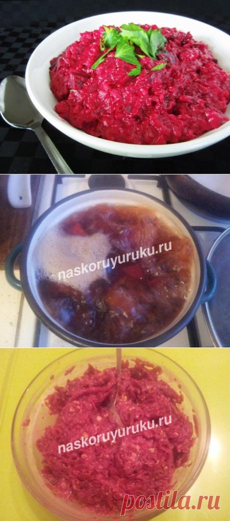 Салат со свеклой, рецепты с фото простые и вкусные